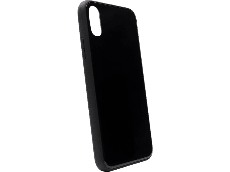 AGM 27697 , Backcover, Apple, iPhone X, iPhone XS, Gehärtetes Glas, Thermoplastisches Polyurethan, Schwarz