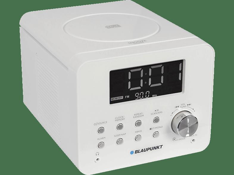 BLAUPUNKT CDR-10-WH Radiowecker Radio-Wecker (FM Tuner, PLL Tuner, Weiß)