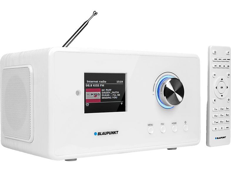 BLAUPUNKT IRD-30-C-WH Internetradio Internetradio (DAB+, FM, Internet Radio, UKW, Weiß)