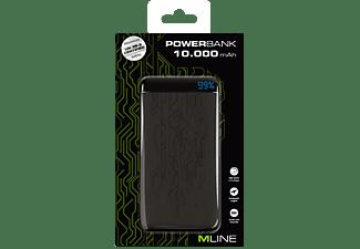 M-LINE Powerbank 10000 mAh für Universal, schwarz