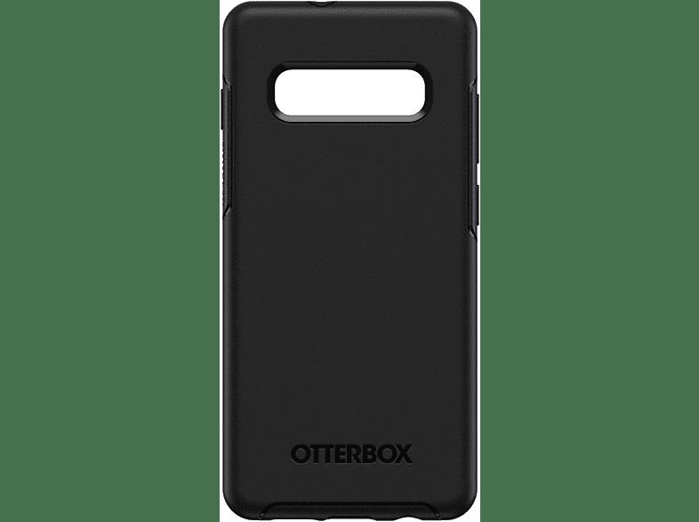 OTTERBOX Symmetry , Backcover, Samsung, Galaxy S10+, Polycarbonat, Silikon, Schwarz