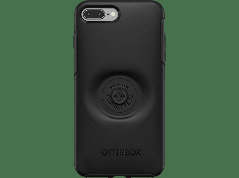 OTTERBOX Otter + Pop Symmetry , Backcover, Apple, iPhone 7+/8+, Kunststoff, Schwarz