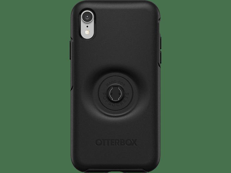 OTTERBOX Otter + Pop Symmetry , Backcover, Apple, iPhone XR, Kunststoff, Schwarz