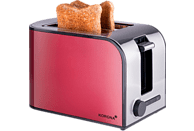 KORONA 21340 Toaster Rot/Edelstahl (920 Watt, Schlitze: 2)