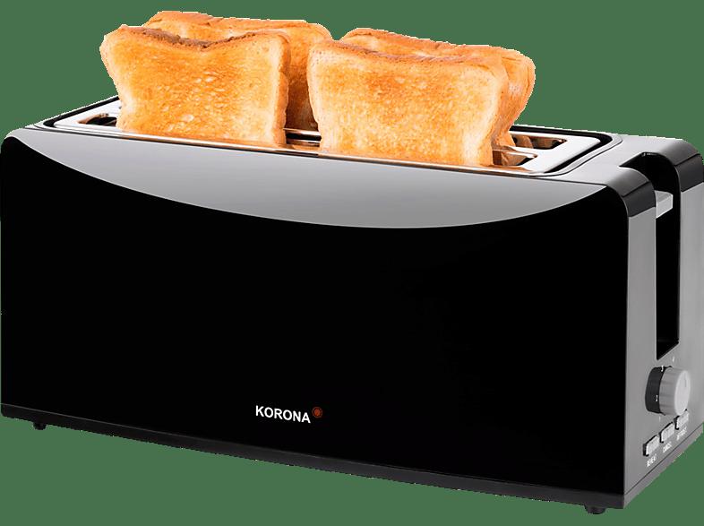KORONA 21044 Toaster Schwarz (1200 Watt, Schlitze: 2)