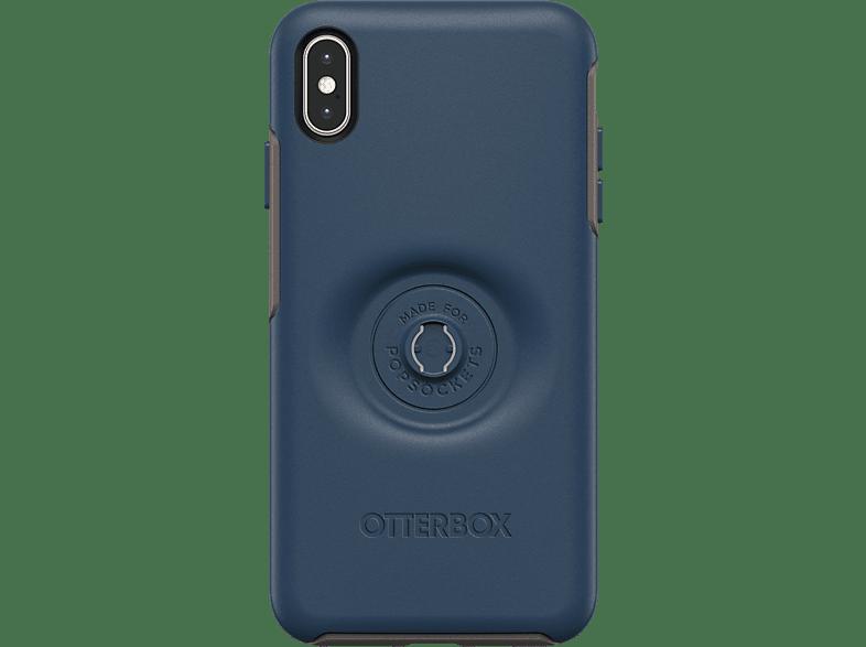 OTTERBOX Otter + Pop Symmetry , Backcover, Samsung, iPhone XS Max, Kunststoff, Blau