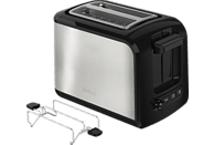 TEFAL TT411D Express Edelstahl Toaster Schwarz/Edelstahl (850 Watt, Schlitze: 2)