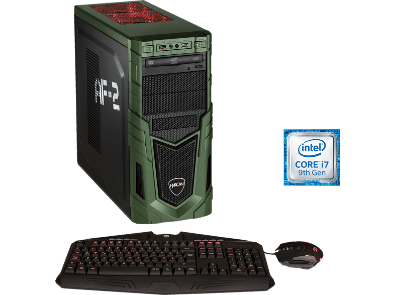 HYRICAN MILITARY GAMING 6323, Gaming-PC mit Core™ i7 Prozessor, 32 GB RAM, 480 GB SSD, 1 TB HDD, Geforce® RTX 2080, 8 GB