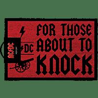 EMPIRE AC/DC - Kokosmatte Fußmatte, Mehrfarbig