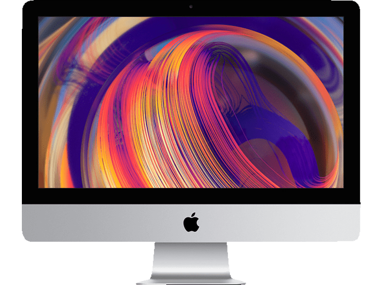 APPLE iMac MRT42D/A-149837 mit internationaler Tastatur, All-In-One PC mit 21.5 Zoll Display, Core i5 Prozessor, 8 GB RAM, 256 GB SSD, Radeon™ Pro Vega 20, Silber
