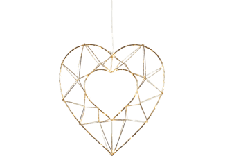 STAR TRADING Hanging Decoration Edge Heart - Luce di Natale LED