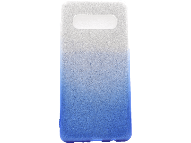 AGM 27944 CASE SLOPE+ , Backcover, Samsung, Galaxy S10+, Polycarbonat, Thermoplastisches Polyurethan, Silber/Blau