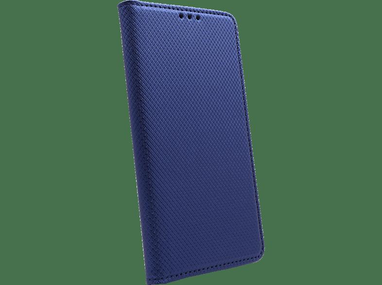 AGM 27976 , Bookcover, Samsung, Galaxy S10e, Obermaterial Kunstleder, Thermoplastisches Polyurethan, Kunststoff, Marineblau