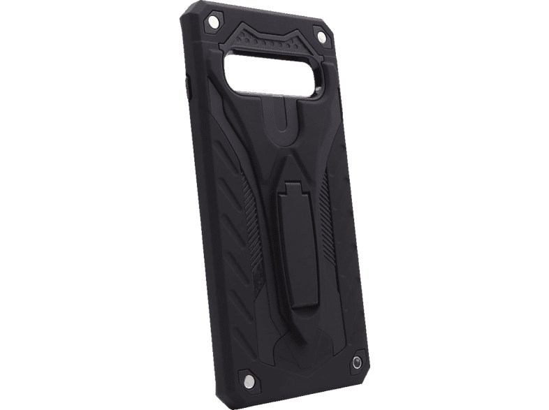 AGM 27960 COVER STAND , Backcover, Samsung, Galaxy S10, Thermoplastisches Polyurethan, Schwarz