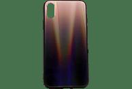 AGM 28011 , Backcover, Apple, iPhone X, iPhone XS, Gehärtetes Glas, Thermoplastisches Polyurethan, Braun/Mehrfarbig