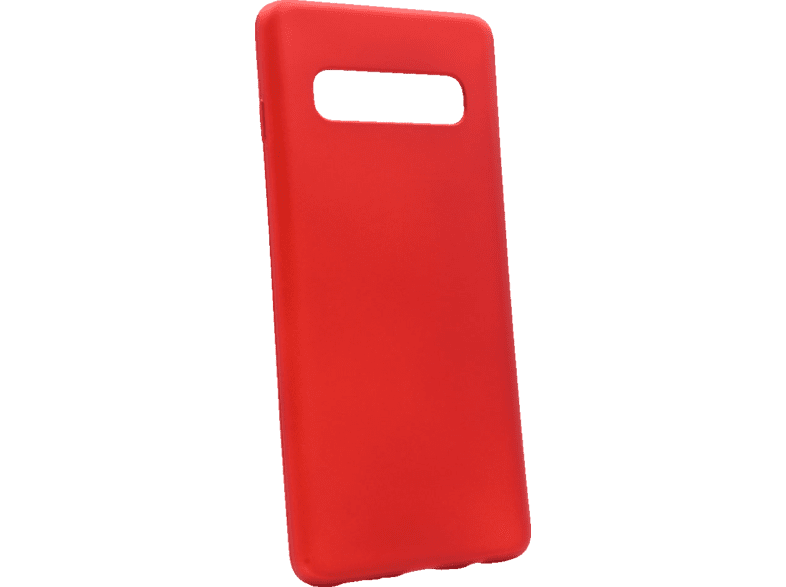 AGM 27965 CASE SOFT , Backcover, Samsung, Galaxy S10, Thermoplastisches Polyurethan, Rot