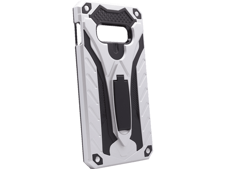 AGM 27958 COVER STAND , Backcover, Samsung, Galaxy S10e, Thermoplastisches Polyurethan, Silber/Schwarz