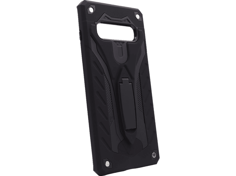 AGM 27962 COVER STAND , Backcover, Samsung, Galaxy S10+, Thermoplastisches Polyurethan, Schwarz