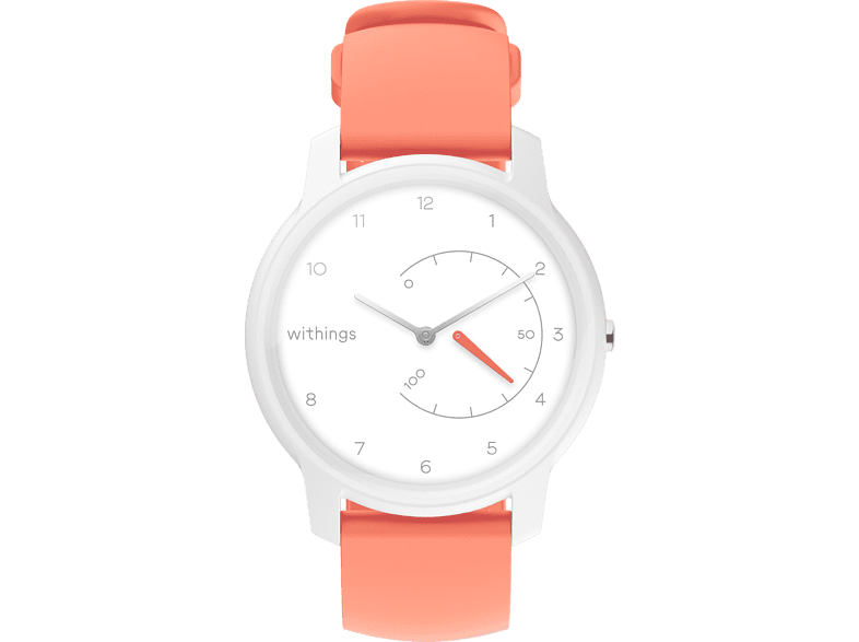 WITHINGS Move, Smartwatch, 200 mm, Weiß/Coral
