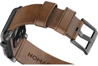 NOMAD Strap Modern Leather Connector Black 42mm, Ersatzarmband, Apple, Apple Watch Sport, Apple Watch und Apple Watch Edition kompatibel, Serien 1, 2 und 3 , Braun/Schwarz