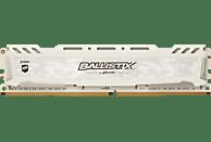BALLISTIX Sport LT 8 GB (1 x 16 GB) Kit 3000 DIMM DR weiß Arbeitsspeicher 16 GB DDR4