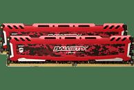 BALLISTIX Sport LT 16 GB (2 x 8 GB) Kit 3000 DIMM SR rot Arbeitsspeicher 16 GB DDR4
