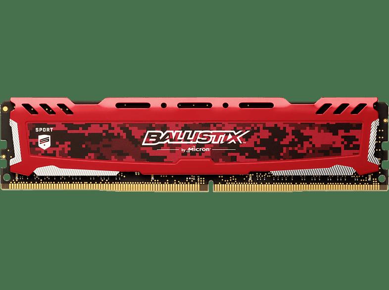 BALLISTIX Sport LT 16 GB (1 x 16 GB) Kit 3200 DIMM DR rot Arbeitsspeicher 16 GB DDR4