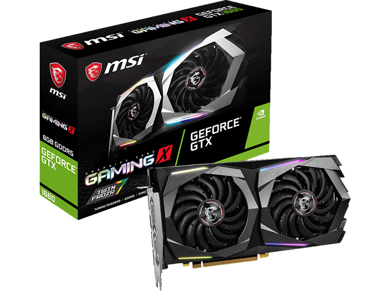 MSI GeForce® GTX 1660 GAMING X 6GB (V379-001R) (NVIDIA, Grafikkarte)