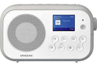 SANGEAN Radio-réveil portable DAB+ FM Bluetooth Traveller 420 Gris (DPR-42BT WHITE GREY)