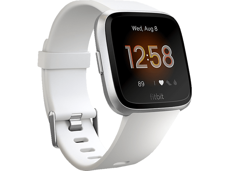 FITBIT  Versa Lite Smartwatch Aluminium, Kunststoff, S,L, Weiß/Silber