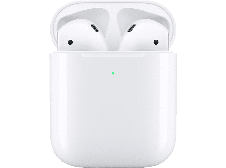 APPLE AirPods mit kabellosem Ladecase 2. Gen, In-ear True-Wireless-Kopfhörer Bluetooth Weiß