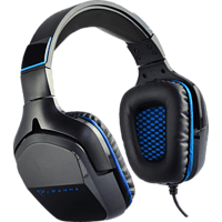 PIRANHA HP90 7.1, Over-ear Gaming Headset Schwarz/Blau