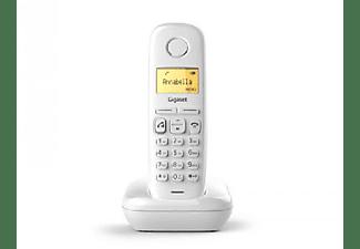 Teléfono - Gigaset A270, Identificador de llamada, Rellamada, 80 contactos, Blanco