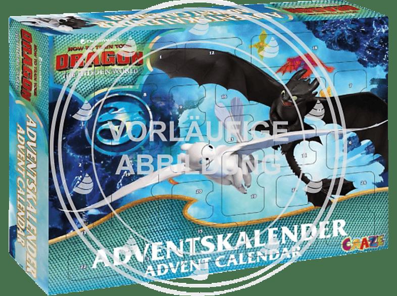 CRAZE ADVENTSKALENDER DRAGONS 3 2019 Adventskalender, Blau