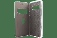 AGM 27752 , Bookcover, Samsung, Galaxy S10, Obermaterial Kunstleder, Stoff, Thermoplastisches Polyurethan, Kunststoff, Schwarz