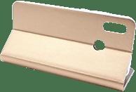 AGM 27642 , Bookcover, Huawei, P Smart 2019, Obermaterial Kunstleder, Stoff, Thermoplastisches Polyurethan, Kunststoff, Gold