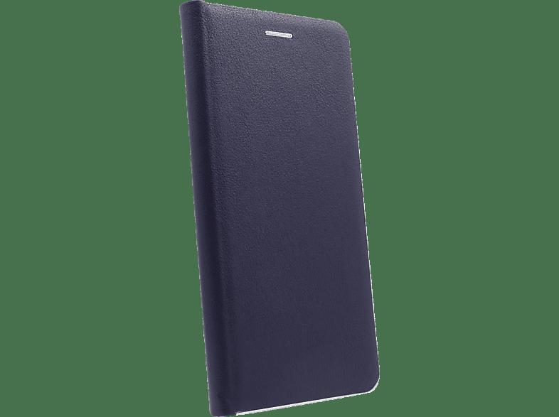 AGM 27936 , Bookcover, Samsung, Galaxy S10+, Obermaterial Kunstleder, Stoff, Thermoplastisches Polyurethan, Kunststoff, Marineblau