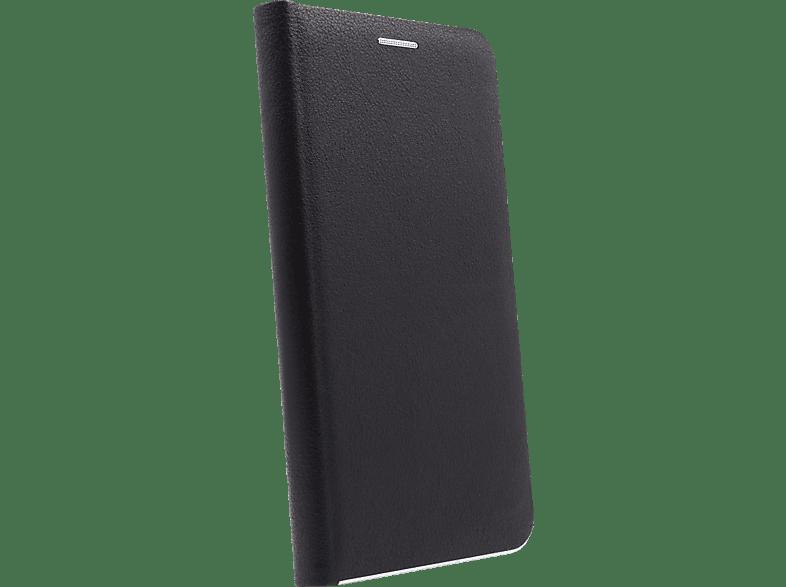 AGM 27733 , Bookcover, Samsung, Galaxy S10e, Obermaterial Kunstleder, Stoff, Thermoplastisches Polyurethan, Kunststoff, Schwarz