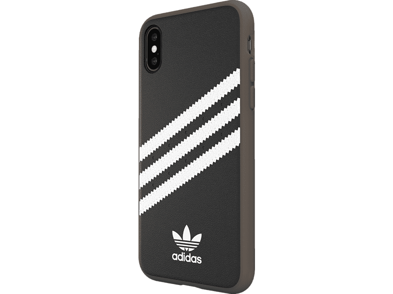 ADIDAS Moulded Case , Backcover, Apple, iPhone X, iPhone XS, Polyurethan/TPU/Polycarbonat, Schwarz/Weiß