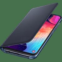 SAMSUNG Flip Cover mit Visitenkartenfach , Bookcover, Samsung, Galaxy A50, Kunststoff, dunkel Blau