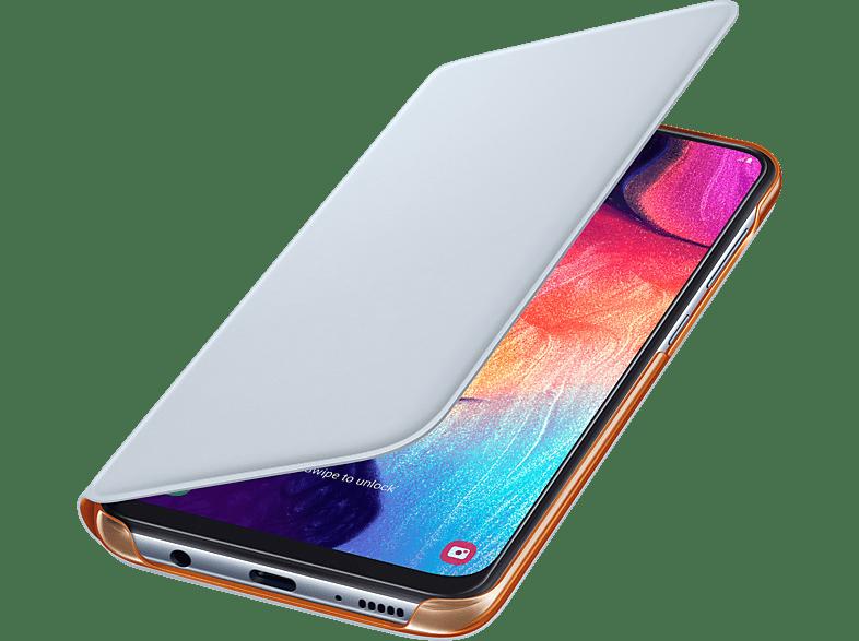 SAMSUNG Flip Cover mit Visitenkartenfach , Bookcover, Samsung, Galaxy A50, Kunststoff, Weiß