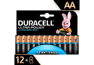 DURACELL Ultra Power Alkaline AA Batterien, 12er Pack (LR6/MX1500)