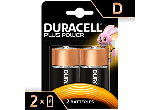 DURACELL Plus Power Alkaline D Batterien, 2er Pack (LR20/MN1300)