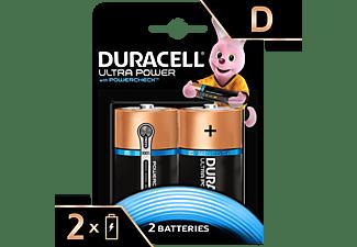 DURACELL Ultra Power Alkaline D Batterien, 2er Pack (LR20/MX1300)
