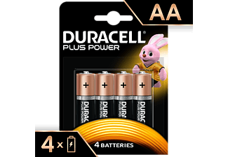 DURACELL Plus Power Alkaline AA Batterien, 4er Pack (LR6/MN1500)