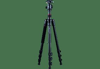 DÖRR ALU STATIV PRO BLACK PB-165 Dreibein Stativ, Schwarz/Rot, Höhe offen bis max 165 cm