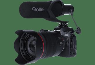 ROLLEI Hear:Me Pro Mikrofon, Mikrofon mit Hypernierencharakteristik (Shotgun), Schwarz