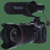 ROLLEI Hear:Me Pro Mikrofon, Mikrofon mit Hypernierencharakteristik (Shotgun), Schwarz, passend für DSLM / DSLR Kameras