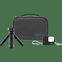 GOPRO AKTTR-001 Travel Kit, Reise-Kit, passend für Shorty: mit allen HERO Kameras kompatibel, Hülle + Trageband: mit der HERO7 Black, HERO7 Silver, HERO7 White, HERO6 Black, HERO5 Black oder HERO (2018) kompatibel.