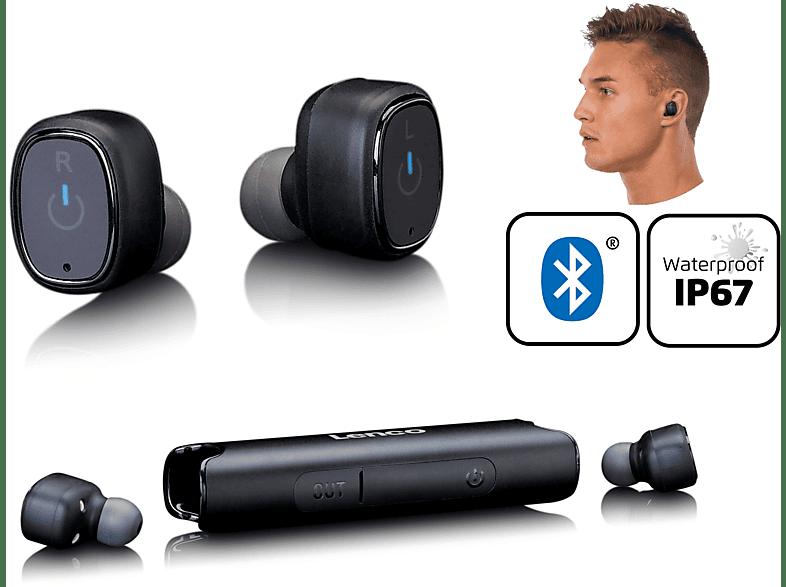 LENCO EPB-440BK, In-ear Kopfhörer Bluetooth Schwarz